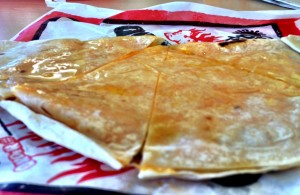 Greasy Del Taco quesadilla