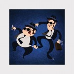 Blues Brothers Jake and Elwood, DUOS, by Sam Carter.