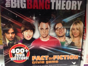 Big Bang Theory board game at Toys R Us.