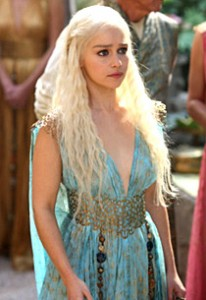 Actress Emilia Clarke plays Daenerys Targaryen.