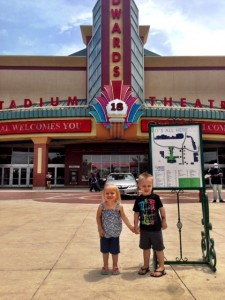 Ellie & Gray outside the movie theater.