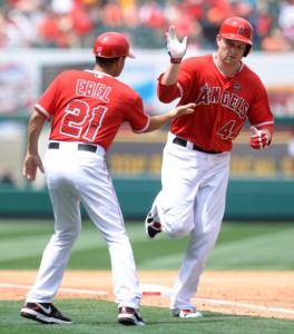 Mark Trumbo homered. Angels lost. Photo by Matt Brown/Angels Baseball LP.