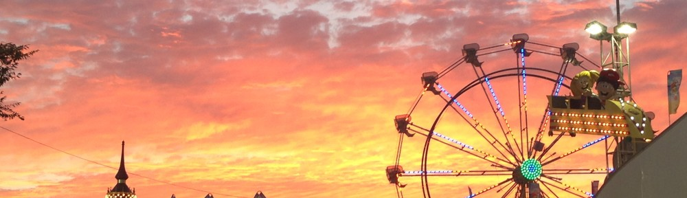 Sunset at the OC Fair. No filter.