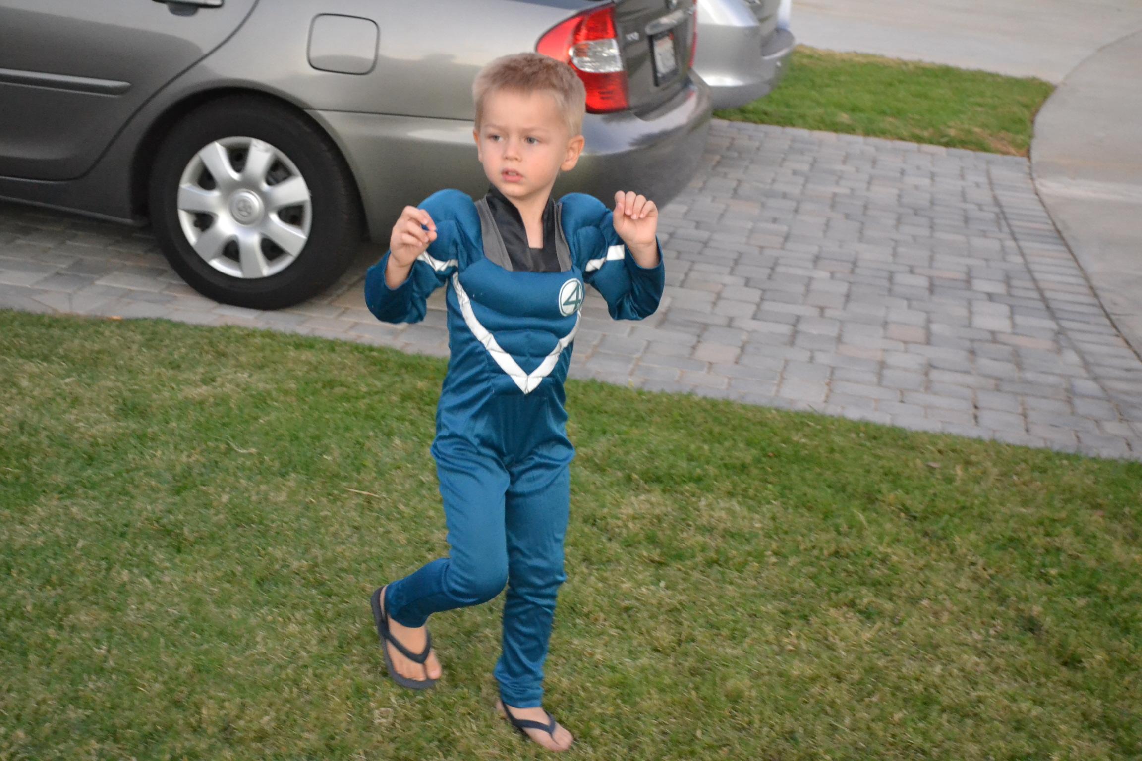 The Fantastic Four costume.
