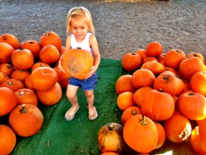 Ellie picked up like 10 pumpkins before I banned her.